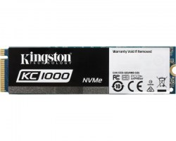 M.2 SSD: Kingston 960GB SSD SKC1000/960G SSDNow KC1000