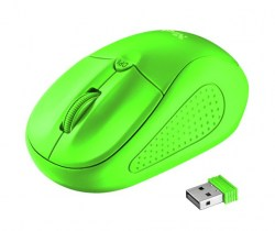 Miševi: Trust Primo Wireless Mouse neon green