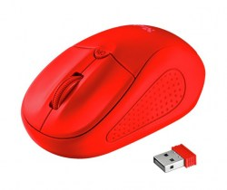 Miševi: Trust Primo Wireless Mouse matte red