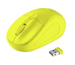Miševi: Trust Primo Wireless Mouse neon yellow