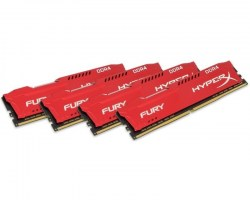 Memorije DDR 4: DDR4 64GB 2933MHz Kingston HX429C17FRK4/64 HyperX Fury Red