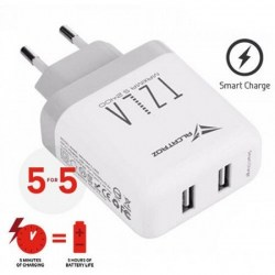 AC adapteri: PowerLogic MAXIMA S2400 White USB Quick charge