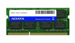 Memorije za notebook-ove: DDR3 8GB 1600MHz SO-DIMM Adata ADDS1600W8G11-B