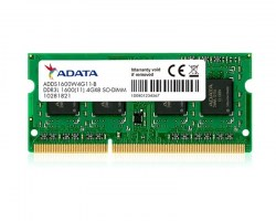 Memorije za notebook-ove: DDR3 4GB 1600MHz SO-DIMM Adata ADDS1600W4G11-S