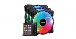 Ventilatori: SAMA PC RGB RAINBOW SINGLE RING kit