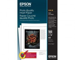 Papir: EPSON A4 Photo Quality Inkjet Paper 100 Sheets