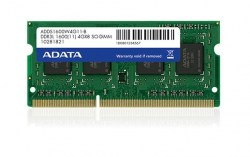 Memorije za notebook-ove: DDR3 4GB 1600MHz SO-DIMM Adata ADDS1600W4G11-B