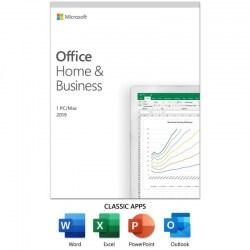 Aplikativni softver: Microsoft Office Home and Business 2019 English CEE Only Medialess P6 T5D-03347