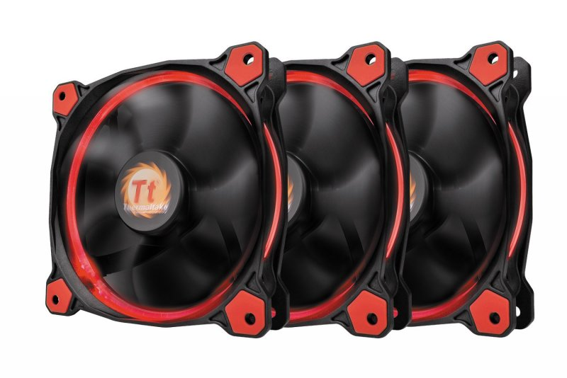 Ventilatori: Thermaltake Riing 12 LED Red (3 fans pack) CL-F055-PL12RE-A